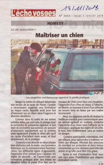 Article risque animalier canin 2018